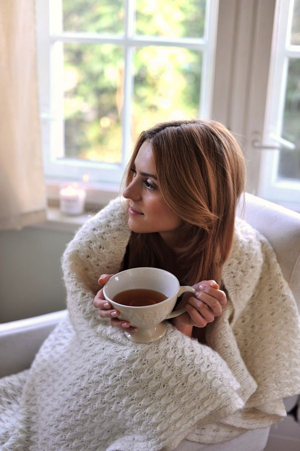 Sunday afternoon, curled up with tea/coffee and a blanket...good things about fall and winter. I'm so excited for this.