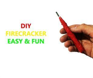 DIY How To Make Firecracker New Methode Simple & Easy