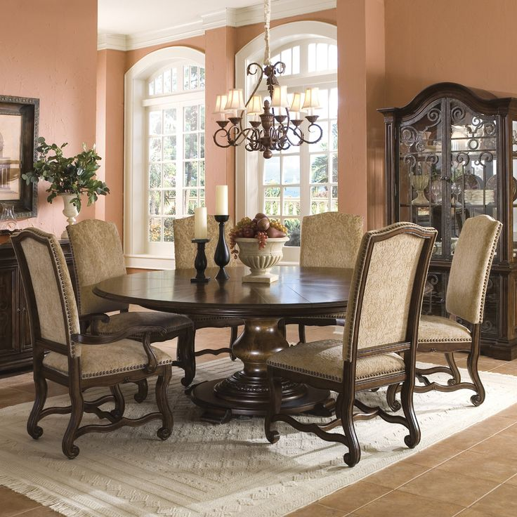 Formal Round Dining Room Tables Unique Design Decoration
