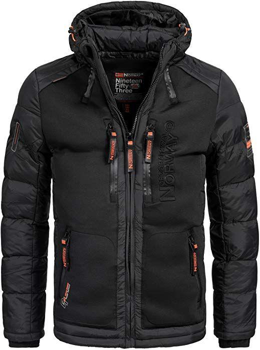Geographical Norway BREVSTER Herren Winterjacke Jacke Outdoor Ski warm Gr.  S-XXXL 2-Farben, Größe S Farbe Schwarz  Amazon.de  Bekleidung 81f8e3ab02