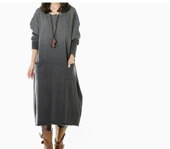 women Sweater dress knitwear sweater wool dress by cottondress23