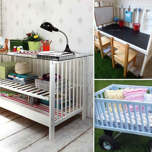 9 chic #DIY ways to re-use a crib from @Tori Spelling! You won't believe how cool some of these are!
