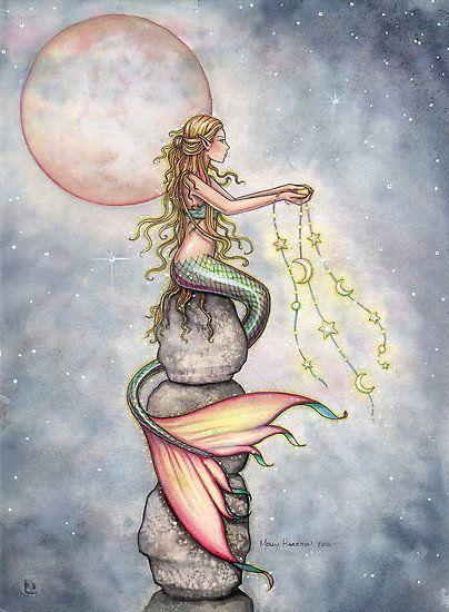 mermaid art                                                                                                                                                                                 More