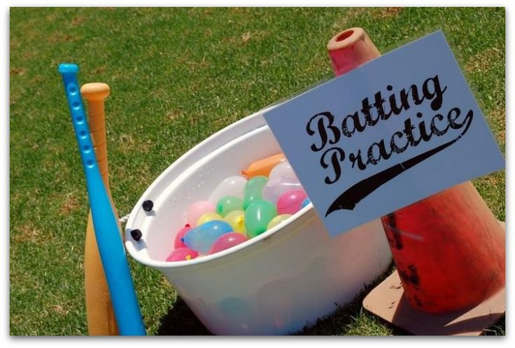 water balloon batting practice - have to try this