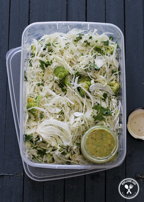Cabbage and Fennel Slaw with a Mustard Avocado Dressing - http://wholesome-cook.com/2014/02/04/cabbage-and-fennel-slaw-with-a-mustard-avocado-dressing/