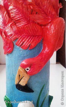 Всем привет!!! Хочу поделиться с вами своей новой работой. Вот такая вазочка для декоративных цветов у меня получилась:))) Расскажу как я её делала:  фото 5