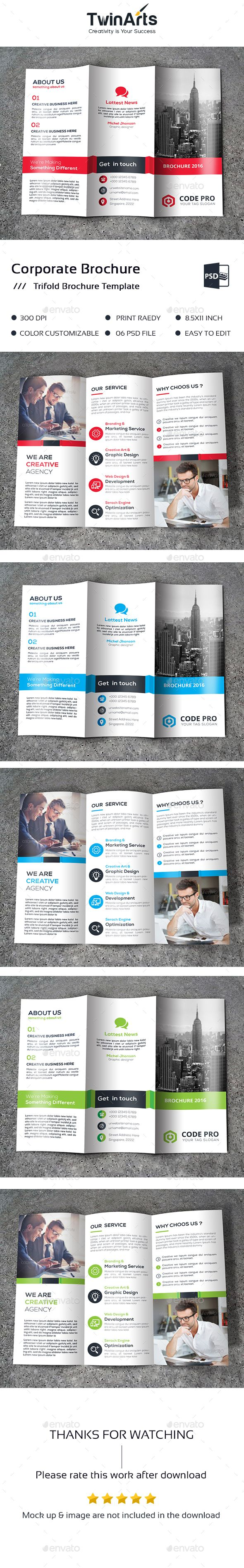 Trifold Brochure Template PSD. Download here…