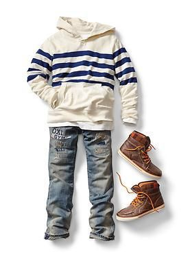 Kids Clothing: Boys Clothing: Now & Later Looks New Arrivals | Gap such a cute preppie outfit wish my son would wear this maybe the shoes...