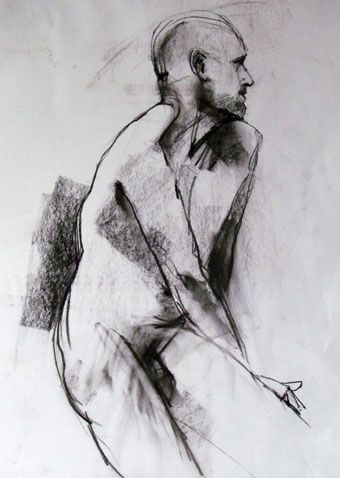 'Ross'. Charcoal drawing by Dan Villiers