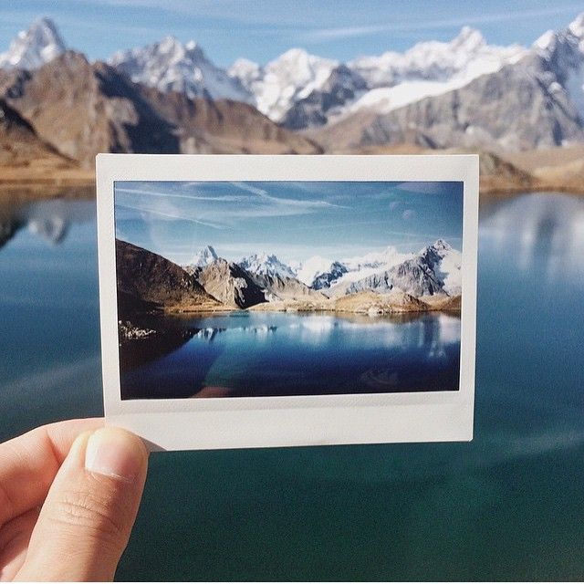 pictures to take mountains Polaroid landscape nature hike lake outdoors