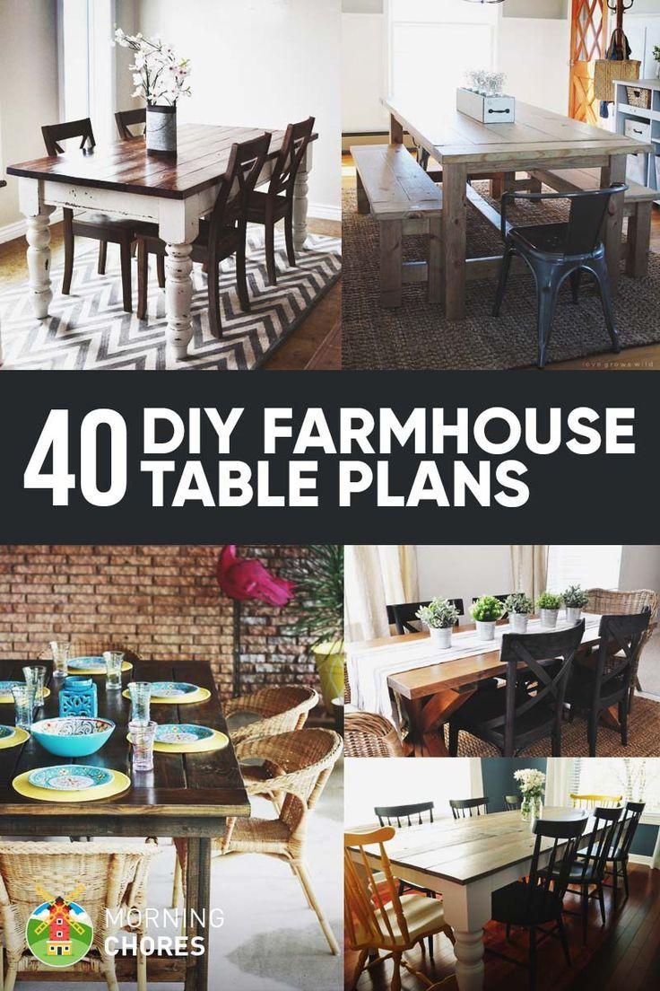 Best 20 Farmhouse Table Plans Ideas On Pinterest