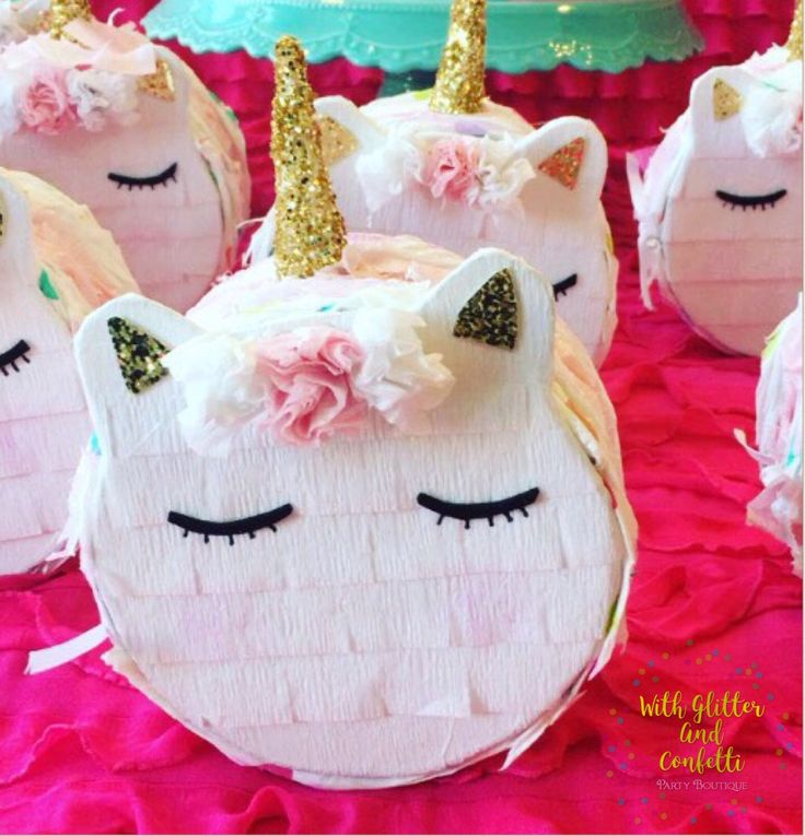 Mini Pinata,Mini Unicorn Pinata,Unicorn,Unicorn Party Favor,Unicorn Party,Bridal Shower,Wedding Party Favors,Bridesmaids,Favor Box, SET OF 3 by withglitternconfetti on Etsy https://www.etsy.com/listing/493256800/mini-pinatamini-unicorn