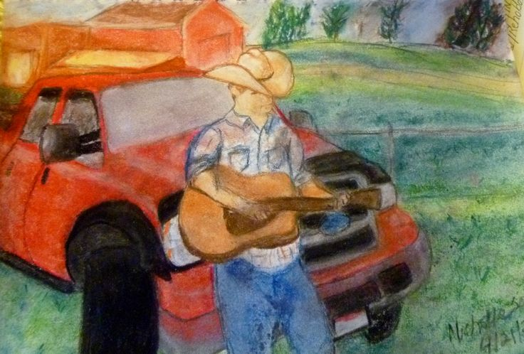 """""""Christian Down On The Farm"""" Art by Michelle Schill We had a major power outage in our area today. There is nothing like living in a home that was built before electricity existed durin…"""
