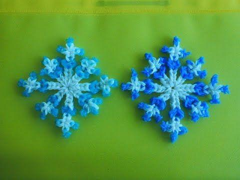 LOOM Weihnachten Snowflake Schneeflocke Bands Weihnachtsdeko Tannenbaum - Schmuck - YouTube