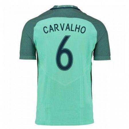 Portugal 2016 Carvalho 6 Borte Drakt Kortermet.  http://www.fotballpanett.com/portugal-2016-carvalho-6-borte-drakt-kortermet.  #fotballdrakter