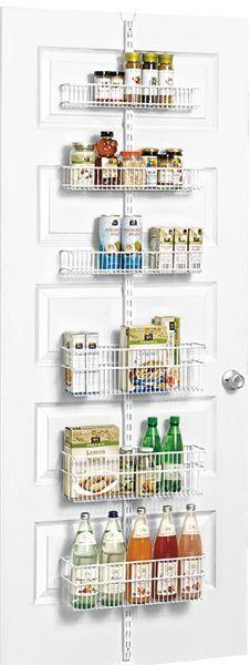 White Elfa Utility Pantry Door U0026 Wall Rack Solution