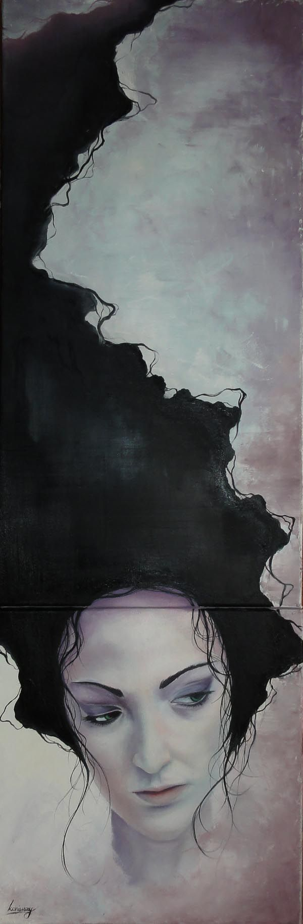 Violeta - Oil on Canvas Painting by Łukasz Koniuszy