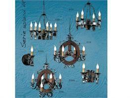 Lampadari in ferro battuto collezione Lux610 611