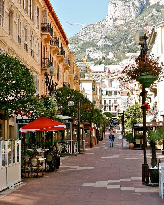 Monte Carlo Photograph - Monaco Travel Photography - Architecture Street Photo - European Cafe Print - Morning Light - Home Decor on Etsy, $30.00