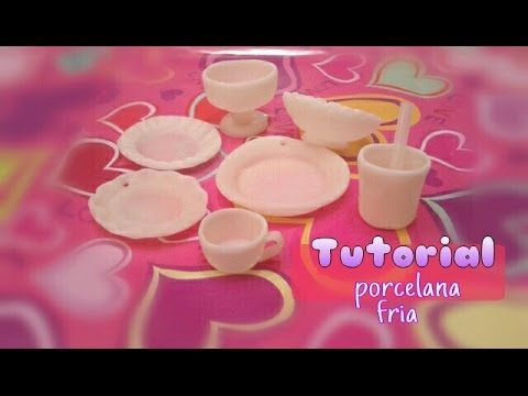 como hacer Platitos vasos copas tazas PORCELANA FRIA/cold porcelain - YouTube