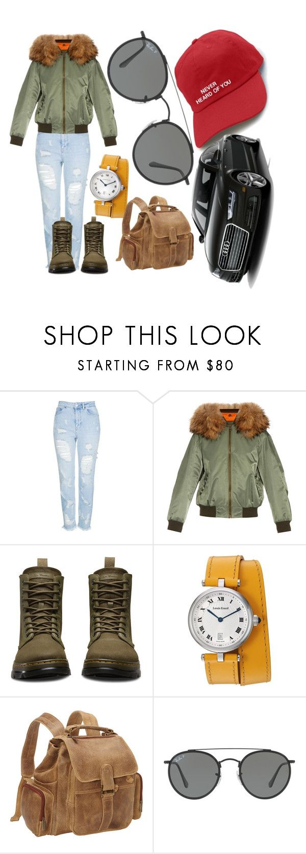 """""""#sunglasses #car #hat"""" by aysenur-odemis ❤ liked on Polyvore featuring Topshop, Mr & Mrs Italy, Dr. Martens, Le Donne and Ray-Ban"""