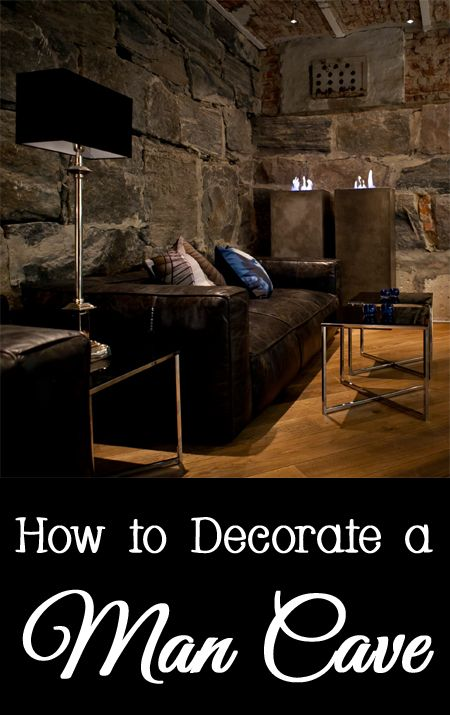 How to decorate a man cave - activities, smoking, tv, electronics, sports, game, pool table, leather furniture, manly, bachelor pad