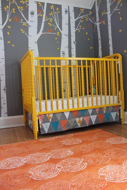 Baby Boy Nursery   How I Repainted the Crib YELLOW!