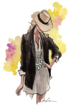 I really want a fedora. I wish this outfit were on a real live person and not a sketch.