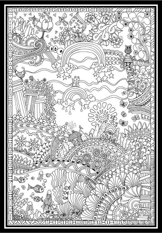 Dibujos Para Colorear Paisajes Naturales Con Imagenes Mandalas