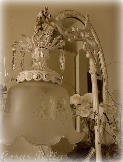 <3Decor, Floor Lamps, Vintage Floors, Antique Lamps, Shabby Chic, Antiques Lamps, Floors Lamps, House, Guest Rooms