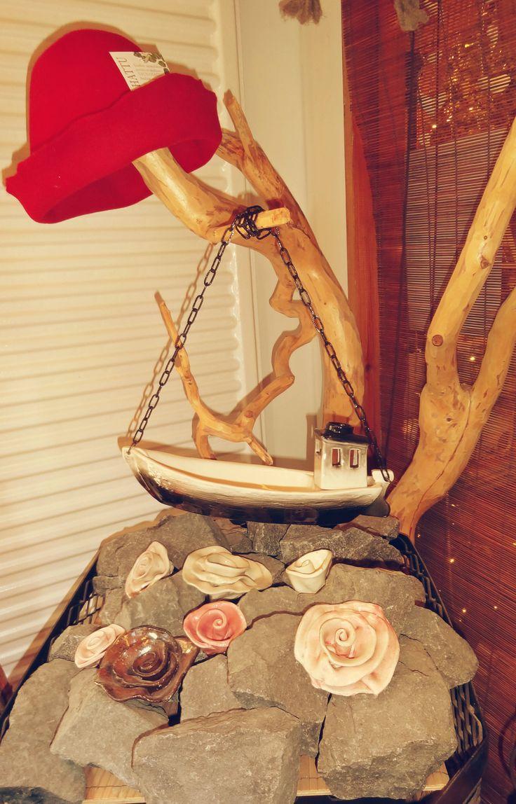 Ceramic sauna boat Kalle.