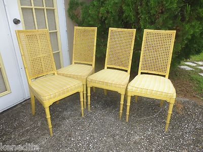 4 Dining Chairs Faux Bamboo Set Four Hickory Hollywood Regency Mid Century  Cane   eBay   Wicker Wonders   Pinterest   Faux bamboo  Hollywood regency  and  4 Dining Chairs Faux Bamboo Set Four Hickory Hollywood Regency Mid  . Hickory White Furniture Ebay. Home Design Ideas