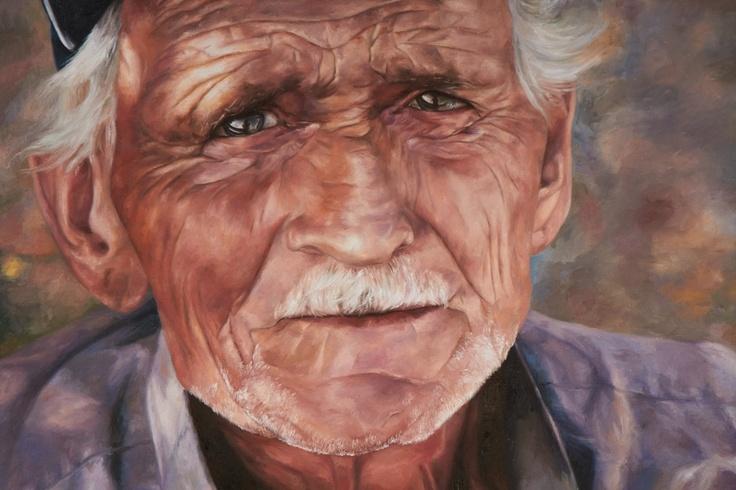 """Wrinkles""  Painting by Keely Fong of Girraween High School"