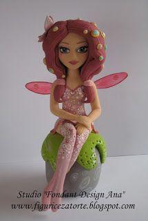 """Studio """"FONDANT DESIGN ANA"""" - Figurice za torte (fondant figures): MIA AND ME (MIA I JA) Fondant figure"""