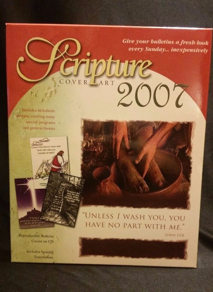 Scripture Cover Art 2007 PC CD-ROM Bulletin Covers Christian Graphics Customize #CommunicationResourcesInc
