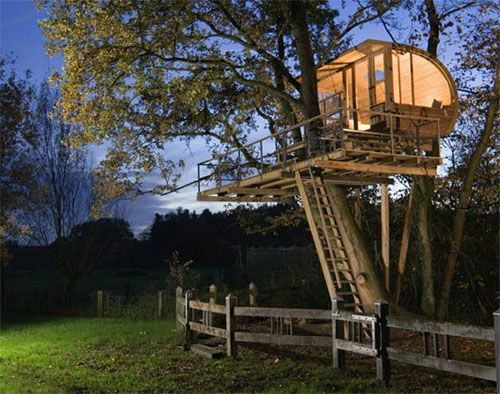 Best Tree House Images On Pinterest Architecture Treehouses - Contemporary banyon treehouse california