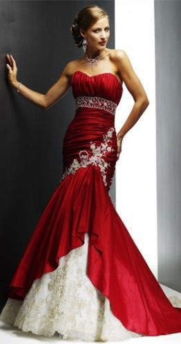 78 Best images about Red Wedding Dress &lt-3 !!!!!!!!!!! on Pinterest ...