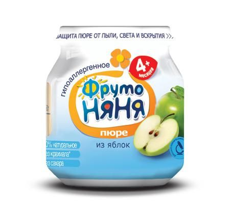 Пюре фрутоняня яблочное, 100 г  — 31р. ------------------------- «ФрутоНяня» — это высококачественное детское питание, для производства которого используются тщательно отобранное сырье и самые современные технологии. Предлагаемая линейка продуктов в полной мере удовлетворяет потребности ребенка раннего возраста в сбалансированной, полезной и вкусной пище. За счет содержания в яблоках органических кислот пюре является особенно полезным для детей раннего возраста. Пектин оказывает…