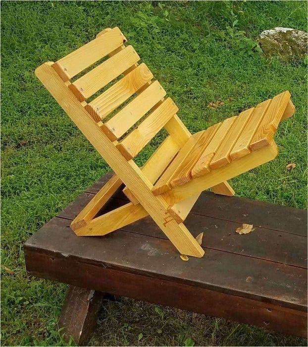 The Becket Chair Folding Wood Beach Chair Under 6 In Under An Half Hour Beach Chairs Beach Chairs Diy Chair
