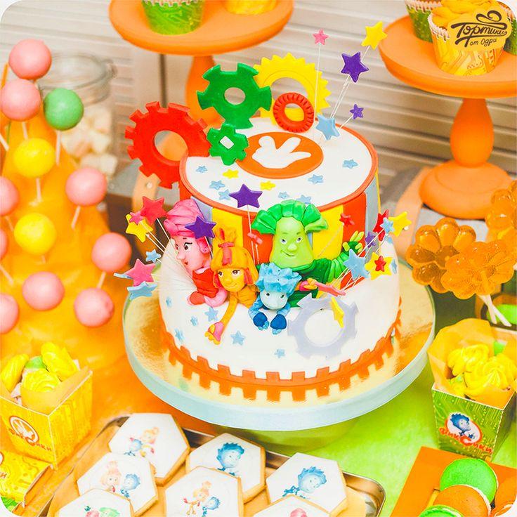 """Мастерская """"Тортики от Одри"""" получила лизензию на изготовление сладостей с Фиксиками. Ура! По этому поводу делюсь с вами сладким тематическим столом с Фиксиками."""