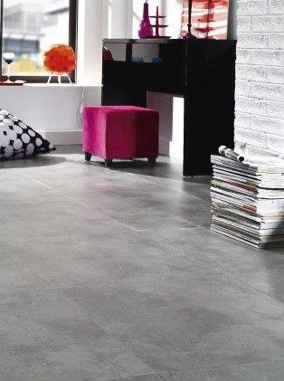 Dalle vinyle auto-adhésive imitation béton gris caractere urban - Saint Maclou