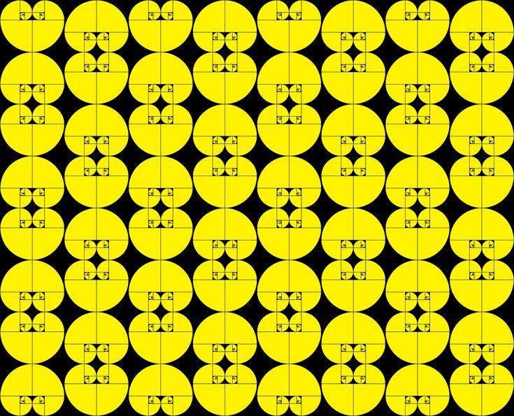 Fibonacci Spiral Pattern.