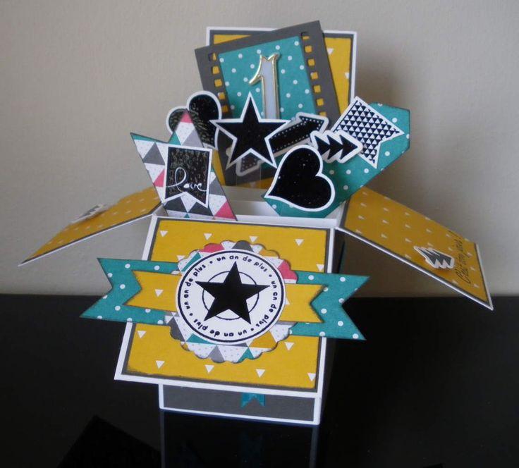 carte pop up card in a box box 3d pinterest bo tes cartes pop up et cartes. Black Bedroom Furniture Sets. Home Design Ideas
