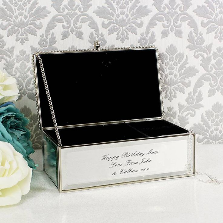 Are you interested in our Personalised Mirrored Jewellery Box ? With our Valentines Day Personalised Gift you need look no further.