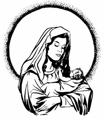 free silhouette clip art blessed Mary - Google Search