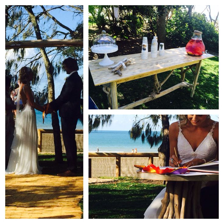 Our last beach wedding in Noosa. We have a complete beach wedding hiring service. Call us: 0422 927 700