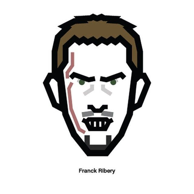 #Ribery #munchen #soccer #football #france #fff #design #character #리베리 #뮌헨 #페라리베리