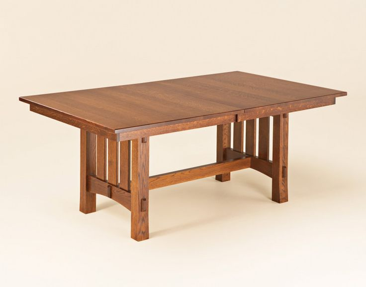 aspen mission dining room table bontrager dining collection this aspen dining room table is amish handcrafted in a sturdy mission design