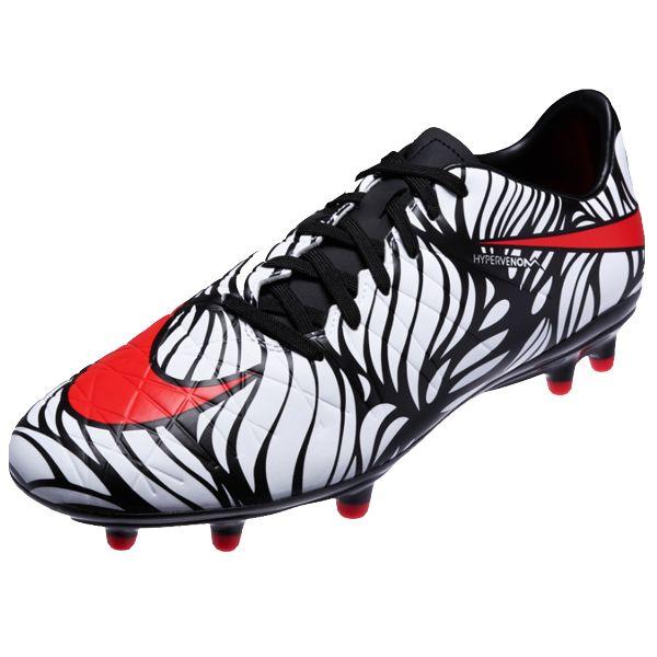Nike Hypervenom NJR Phelon FG (Black/Bright Crimson/White)