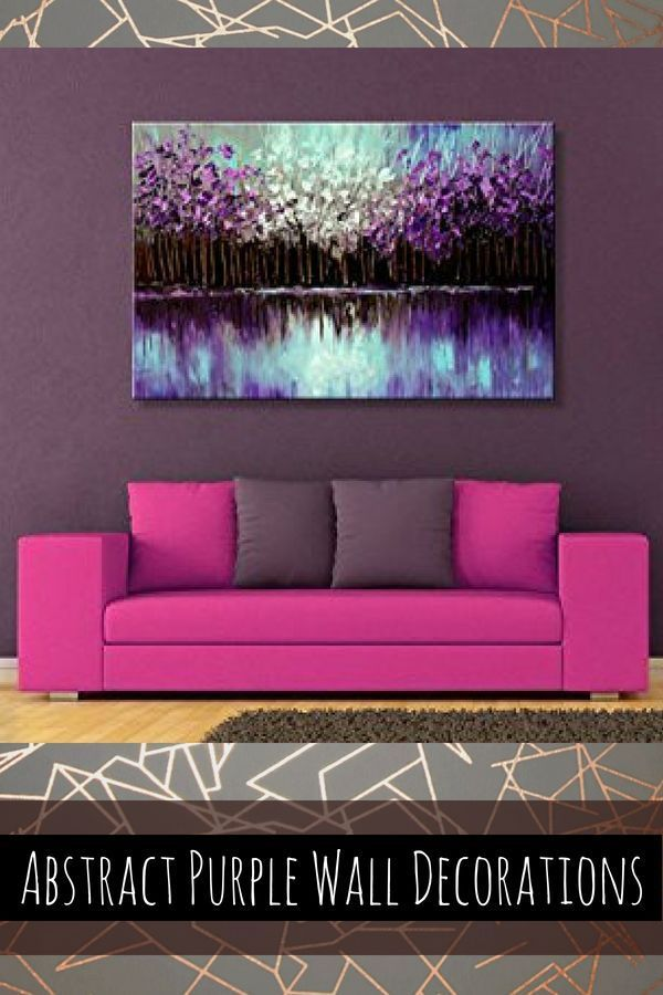 Inspiring Cute And Trendy Purple Wall Art Purple Wall Art Purple Walls Purple Accent Walls